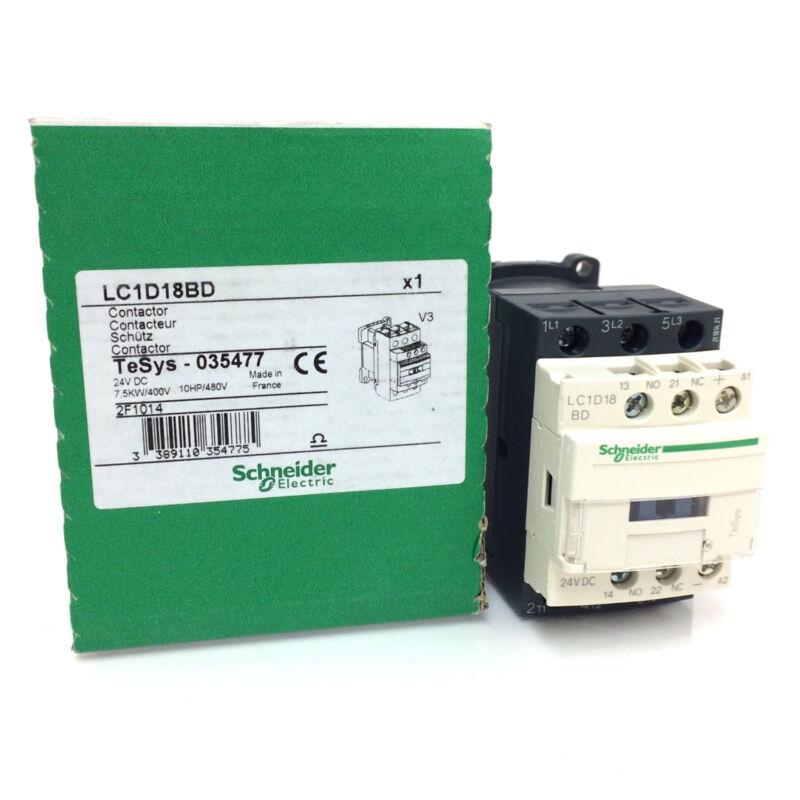 Contactor Lc1d18bd Schneider 24vdc 5 5kw 035477 Lc1d18