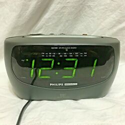 Philips /Magnavox Large Display AM/FM/ Dual Alarm Clock Radio AJ3380/17