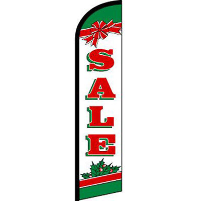 Sale Holiday Christmas Deluxe Swooper Feather Banner Flag