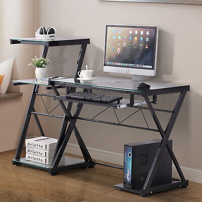 PC Computer Desk Laptop Table Corner Student Workstation Office Home Furniture ()