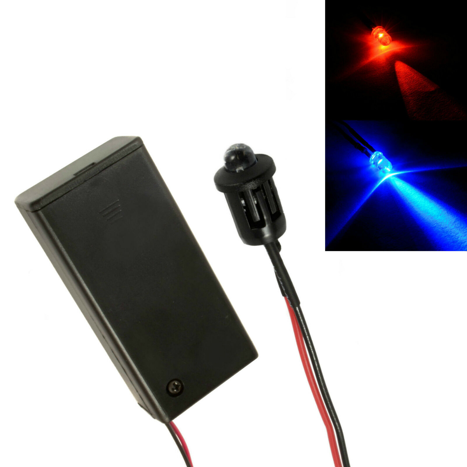 Switch Battery Flashing Red Car Dummy Fake Alarm LED PP3 Connector
