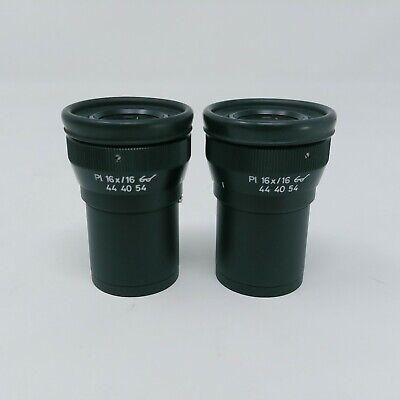 Zeiss Microscope Eyepieces Pl 16x16 Focusing Pair 444054