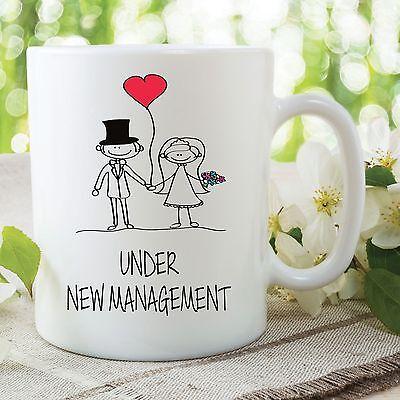 Divertido Boda Taza Artículo Broma Novedad Regalos Under New Management Esposa