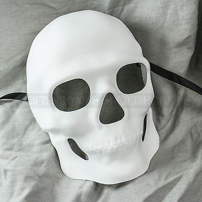 White Sugar Skull Mask Halloween Masquerade Party Day of the Dead Dia de Muertos