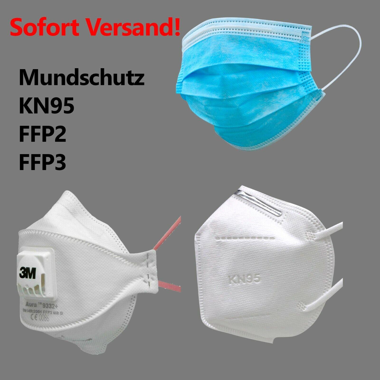 3M™ Aura™ Mundschutz Maske Atemschutzmaske FFP2 FFP3 KN95 Schutzmaske