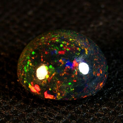 5.80CTS EXCELLENT 3D MULTI-COLOR PLAY NATURAL WELO BLACK OPAL LOOSE GEMSTONE