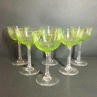 Ensemble de 6 élégants verres à vin en cristal