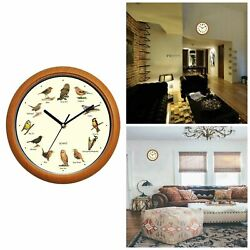 Singing Bird Wall Clock Battery Powered Home Decorative Clocks With Sound Birds