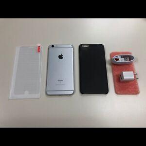 Silver IPhone 6S Plus 128GB **UNLOCKED** + EXTRAS!!