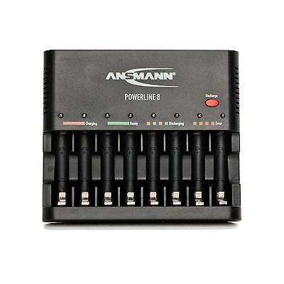 Ansmann Powerline 8 Schnelladegerät Akkuladegerät Ladegerät ohne Akkus