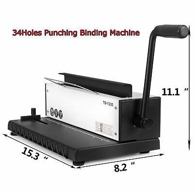 34 Holes Punching Binding Machine Steel Metal Wire Puncher Manual