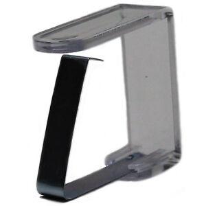 4 Edelstahl Tischtuchklammern GASTRO Tischdeckenklammern rostfrei Tischklammern