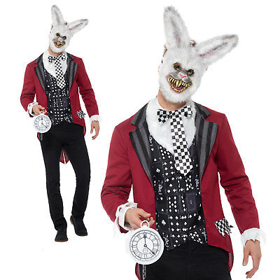 Deluxe White Rabbit Costume Halloween Fairytale Adult Mens - White Rabbit Outfit