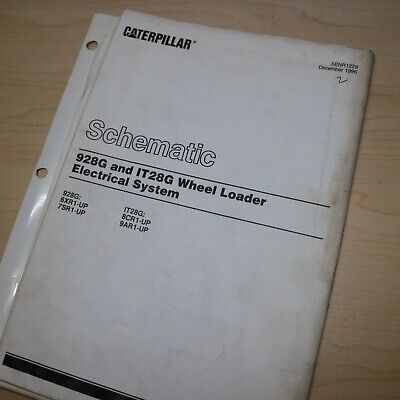 Caterpillar 928g It28g Wheel Loader Electrical System Schematic Manual Service