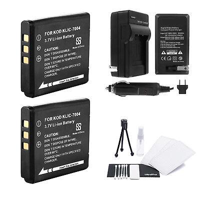 Usado, KLIC-7004 Battery x2 + Charger for Kodak PlaySport, PlayTouch, PlaySport Zx3 segunda mano  Embacar hacia Argentina