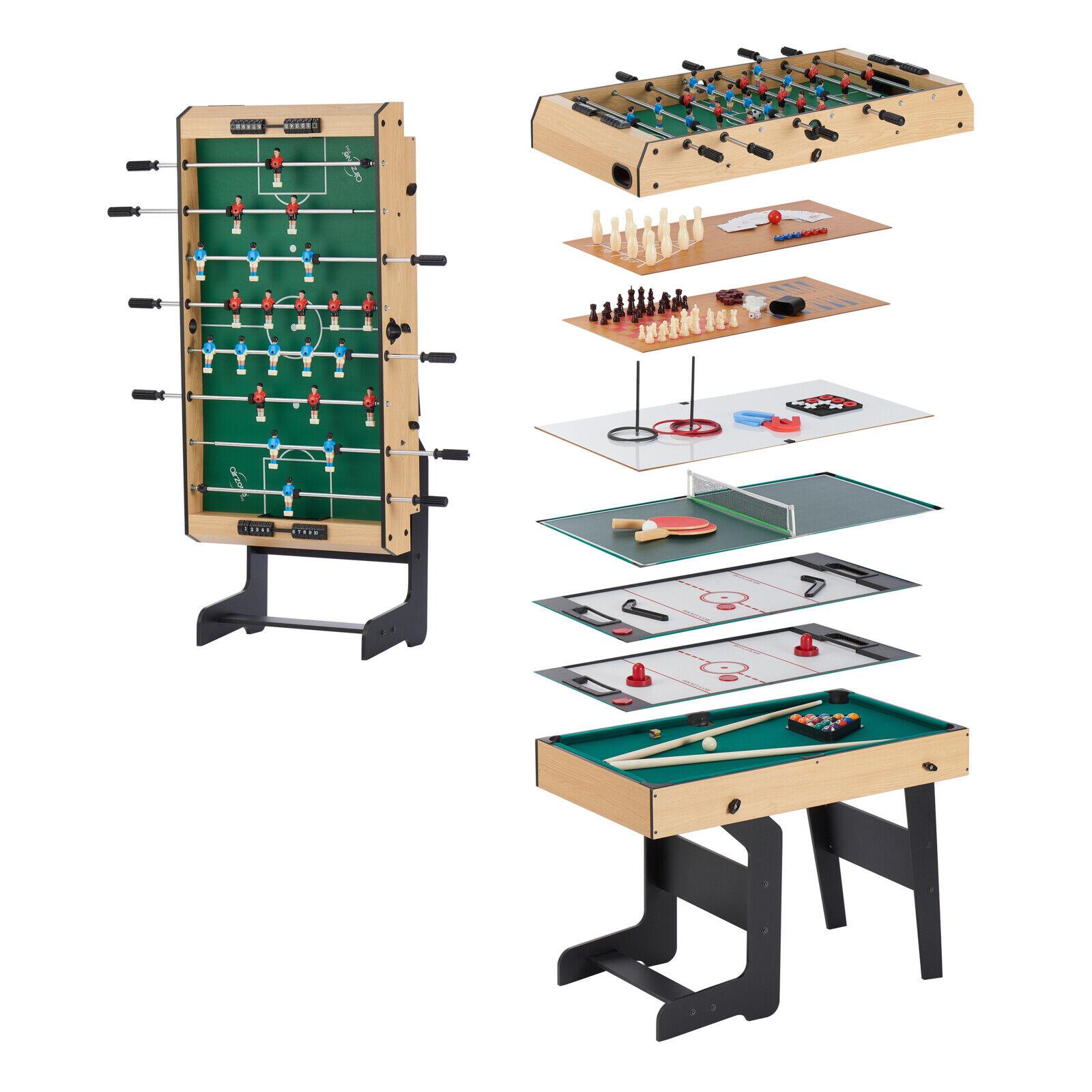 Multi Game Table Folding Junior Accessories Foosball Billiar