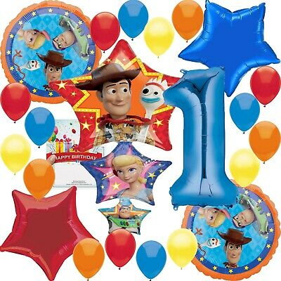 Disney Toy Story 4 Party Supplies 1st Birthday Balloon Decoration Bundle - First Birthday Balloon
