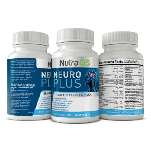Neuro Plus Brain Support Supplement - Memory, Focus & Clarity Formula