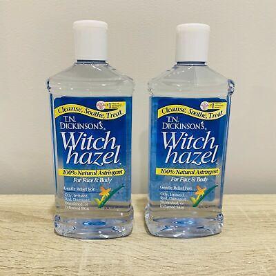 *Dickinson's Witch Hazel 100% Natural Astringent 16 oz (Pack of 2) FAST SHIPPING Dickinsons Witch Hazel Astringent