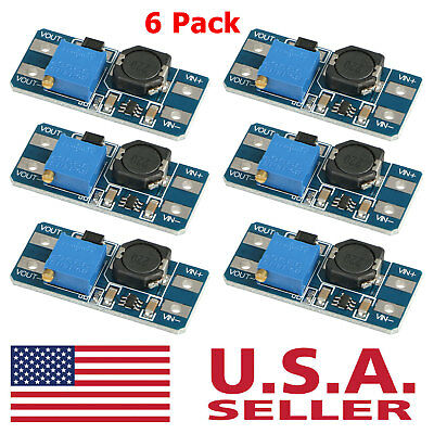 6pcs Mt3608 Dc 2a Step Up Power Booster Module 2-24v Boost Converter For Arduino