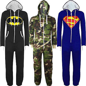 Kids-Boys-Girls-Superman-Batman-Playsuit-All-In-One-Piece-Onesie-Jumpsuit-7-13