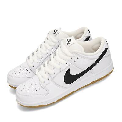 Nike SB Dunk Low Pro ISO Orange Label White Black Skateboarding Shoes - Orange Synthetic Footwear