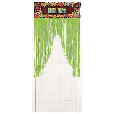 Luau Hawaiian Tropical Party Tiki Door Banner Cover Curtain Party Decoration