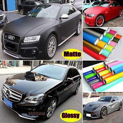 Bubbles Free Stretch Car Paint Glossy Bright Matte Finish Vinyl Wrap Sticker US