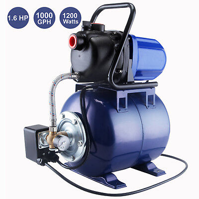 1 1.6 Hp Electric Water Booster Garden Pump Irrigation System Pool Pond Farm