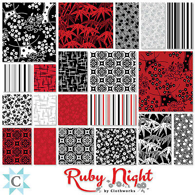 Ruby Night Square Bundle From Clothworks - (42) 5