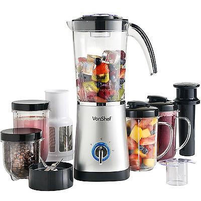 VonShef Jug Blender Multifunctional Smoothie Maker Food Mixer Juicer Grinder