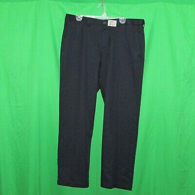Haggar men's dress pants, size 38x30, navy blue, flat front, waist extenders
