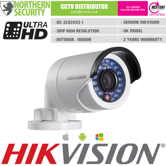 HIKVISION 4mm 3MP 2MP 1080P IR POE SD-CARD EMAIL NAS Network IP Security Camera