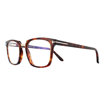 Tom Ford Glasses Frames FT5523-B 054 Red Havana Clear UV Blue Block 50mm Mens