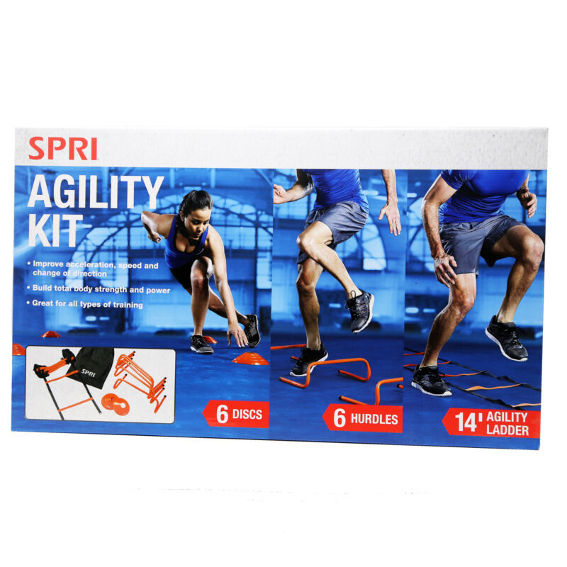 SPRI Agility Kit, Fitness, Multicolor, Sports Training Aid, Weight Loss Field