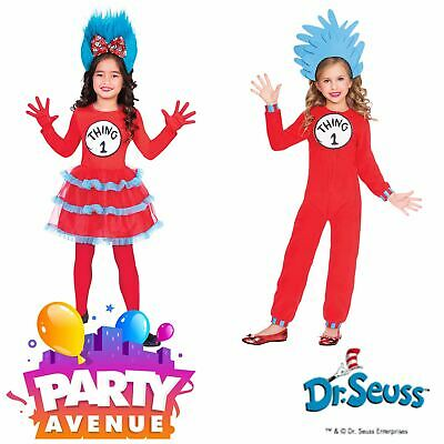 The Cat In The Hat Thing 1 And Thing 2 Fancy Dress Costume Book Day Dress Up