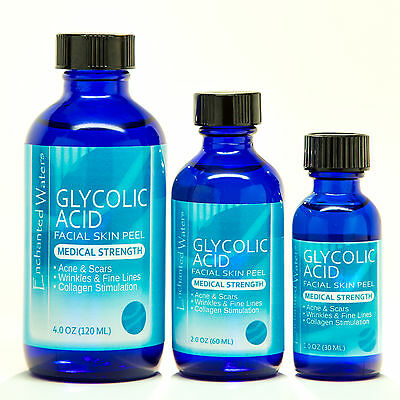 GLYCOLIC ACID Chemical Peel Kit Medical Grade - 100% Pure! Acne, Scars, Wrinkles
