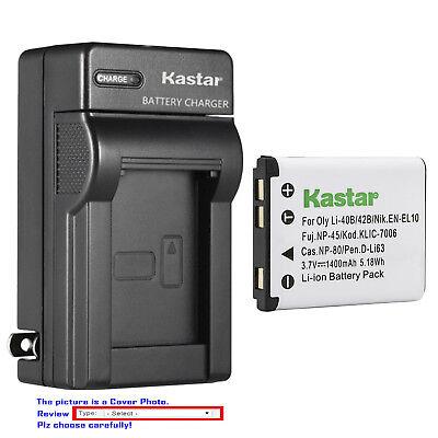 Kastar Wall Charger Battery for Nikon EN-EL10 MH-63 & Nikon Coolpix S4000 Camera