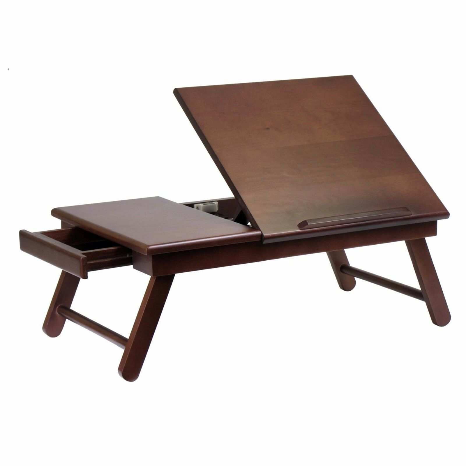 Details About Wood Lap Desk Laptop Notebook Writing Work Station Drawer Table Portable Bed