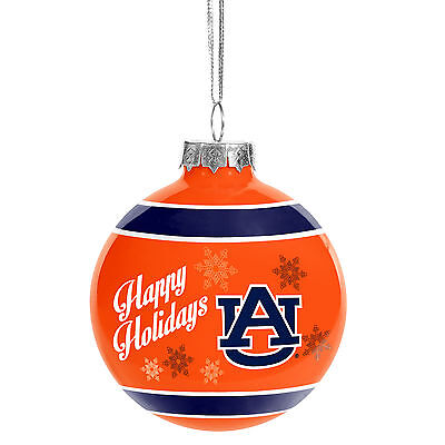 Auburn Tigers Ncaa Holiday Christmas Ornament Glass Ball Forever Collectibles