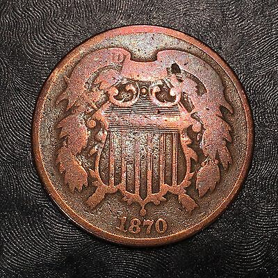 1870 Two Cent Piece - High Quality Scans #F560