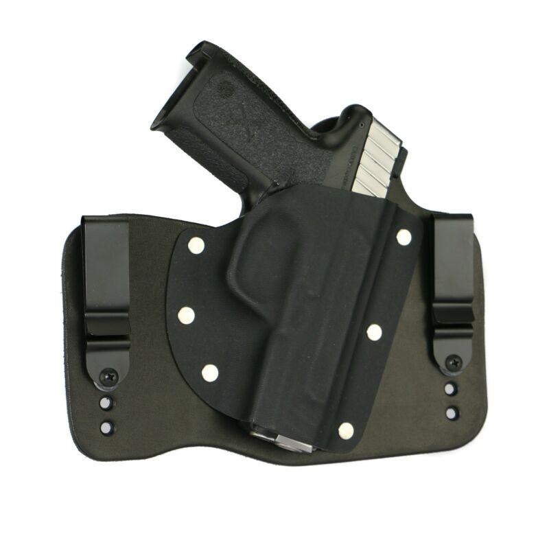 FoxX Leather & Kydex IWB Hybrid Holster Smith & Wesson SD9VE & SD40VE Black RH
