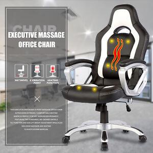white leather office chair ebay rh ebay com