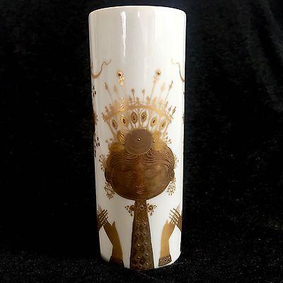 Vintage Bjorn Wiinblad for Rosenthal Cylinder Vase: Studio Linie Quatre Couleurs