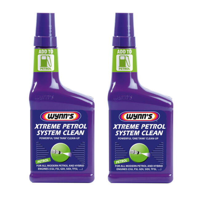 2 x Wynns Extreme Powerful PETROL Fuel System Injector EGR Turbo Cleaner 325ml