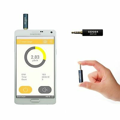 Smart Geiger Nuclear Radiation Detector Tester For Smart Phone w/ English Manual