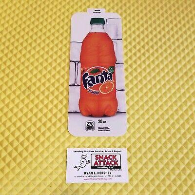 Royal Vendors Soda Vending Machine Fanta Orange 20oz Bottle Vend Label