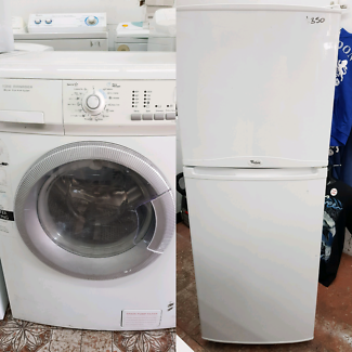 whirlpool fridge and electrolux front loader