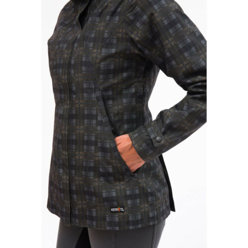Kerrits Element Barn Jacket 3-Seasons Waterproof and Windproof- Black Plaid- XS
