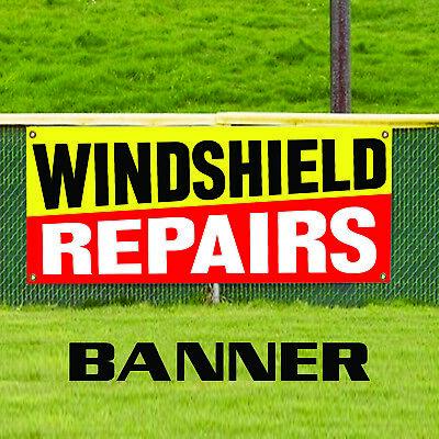 Wind Shield Repairs Plastic Novelty Indoor Outdoor Vinyl Banner Sign